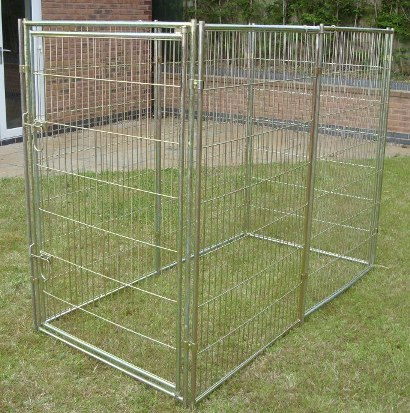 Electroplated mesh 1m x 2m dog run for Fenetre 2m x 1m